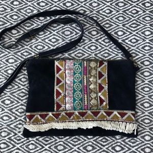 Handbags - Gorgeous Suede Multicolor Boho Chic Crossbody